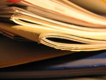 Papers edges Stock Photography