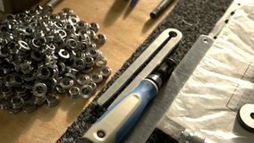 Papers and engineering tools. stock video footage