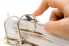 Papers in folder Royalty Free Stock Images