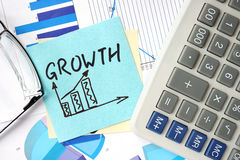 Papers with graphs and Business Growth concept. Stock Photography
