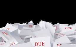 Papers heap Stock Photography