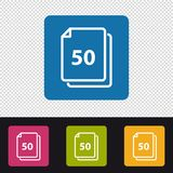 Papers Icon 50 Sheets - Colorful Vector Illustration - Isolated On Transparent Backround. Papers Icon 50 Sheets - Colorful Vector Illustration - Isolated On Royalty Free Stock Photography