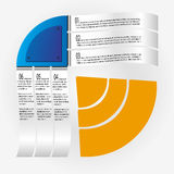 Papers Infographics. Six Papers Infographics Vector Illustration Stock Images