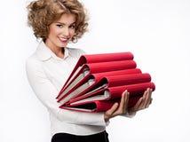 papers kvinnan Arkivfoto
