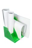 Papers. On Magazine File on White Background royalty free stock photo