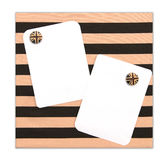 Papers note closed cloth board by magnet Royalty Free Stock Images