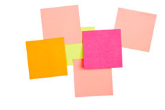 Papers for notes. Differently colored Royalty Free Stock Image
