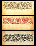 Papers with ornaments. Illustration of old papers with ornaments Royalty Free Stock Photos