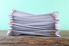 Papers with paperclips Royalty Free Stock Photos