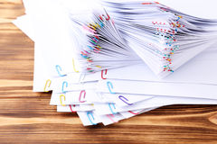 Papers with paperclips Royalty Free Stock Images
