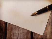 Papers and pen Stock Photography