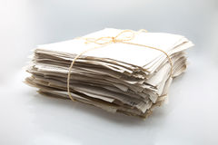 Papers piled Stock Photography