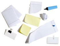 Papers and post-it Stock Image