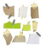 Papers and post it with white background Stock Photography