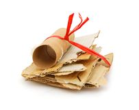 Papers slices of cardboard Stock Photo