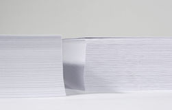 Papers stack. White, blank paper stack on white background Stock Photos