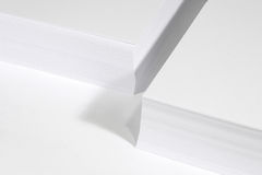 Papers stack. White, blank paper stack on white background Royalty Free Stock Image