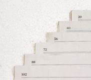 Papers stacked Royalty Free Stock Images