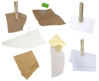 Papers on a white background Royalty Free Stock Photo