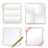 Papers on white background Stock Photo