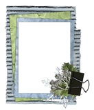 Papers winter frame Royalty Free Stock Image