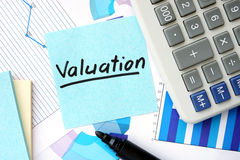 Papers With Graphs And Valuation Concept. Stock Images