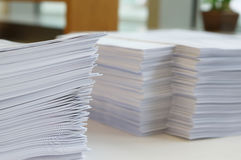 Papers worksheet at office Stock Images