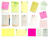Papers_set Royalty Free Stock Image