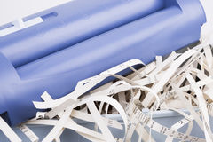 Papershredder with overstaff basket Stock Images