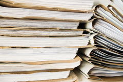 Paperwork. Stack of office folders and documents paperwork Royalty Free Stock Photos