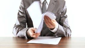 paperwork απόθεμα βίντεο