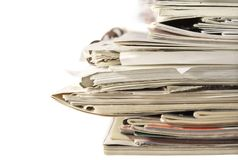 Paperwork. Stack of files and paperwork Royalty Free Stock Photo