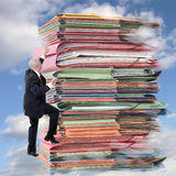 Paperwork climbing Stock Photos