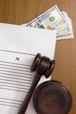 Paperwork court Stock Photography