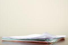 Paperwork on a desk Stock Photos