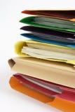 Paperwork in Folders Royalty Free Stock Photo