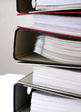 Paperwork - Folders 5. Paperwork in 5 folders neutral background Royalty Free Stock Image