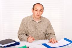 Paperwork at home Royalty Free Stock Photo