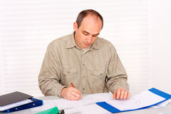Paperwork at home Royalty Free Stock Photography