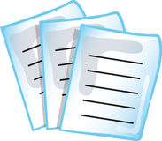 Paperwork icon Royalty Free Stock Photos