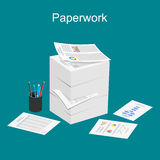 Paperwork illustration. Royalty Free Stock Photo