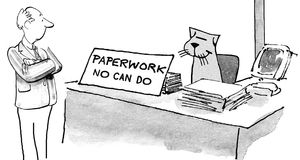 Paperwork No Can Do Royalty Free Stock Image