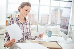 Paperwork at office Royalty Free Stock Image
