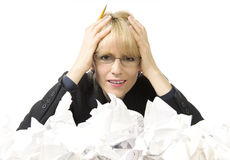 Paperwork, paperwork go away! Royalty Free Stock Photography