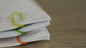 Paperwork piling up stock video