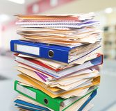 Paperwork. Stack Paper File Document Heap Messy Royalty Free Stock Photography