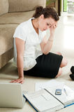 Paperwork and Tax Worries Stock Photos
