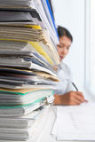 Paperwork and worker Stock Photography