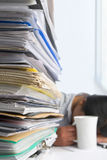 Paperwork and worker Stock Photo