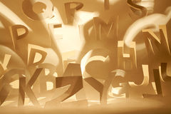 Papery alphabet Stock Photography